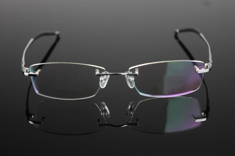 005de9423 النقي التيتانيوم النظارات بدون شفة الإطار البصرية وصفة طبية مشهد ...
