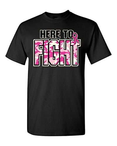 Here To FIGHT T-shirt Breast Cancer Awareness Shirts Hip Hop Novelty T Shirts Men'S Brand Clothing Short Sleeve Brand