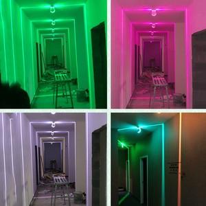 Image 5 - Thrisdar 10W RGB Led Window Door Frame Wall Lamp With Remote Hotel KTV Restaurant Spot light Aisle Corridor Ray liner Wall Light
