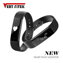 Smart Band ID115 HR Bluetooth Wristband Heart Rate Monitor Fitness Tracker Cardiaco Bracelet For Phone pk FitBits mi 2 Fit Bit
