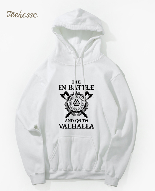 Odin Vikings Hoodie Men Die In Battle And Go To Valhalla Hoodies Mens 2018 Winter Son of Odin Viking Berserker Hooded Sweatshirt 5