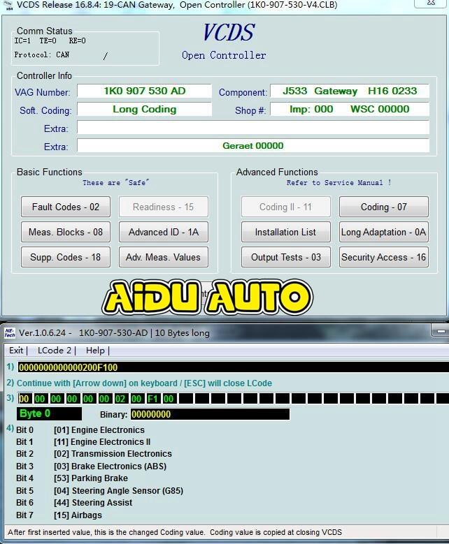 Canbus Gateway 1K0 907 530 AD 1K0907530AD