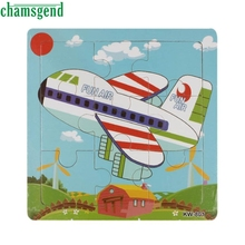 High Quality font b Wooden b font Aircraft Jigsaw Toys For Kids Education And Learning Puzzles