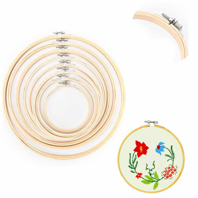 13-34cmBamboo для вышивки крестом ручная работа домашнее мастерство швейный инструмент деревянная рамка обод кольцо вышивка круглая машина