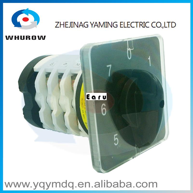 Factory Supplied YMZ12-75/4-07Combination switches Changeover switch rotary switch 4 pole sliver contacts contacts