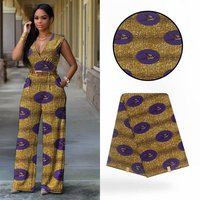 6 Yards/lot Fashion gold background hollandais batik wax purple Swallow printed pattern african wax fabric for colothes VH134 3