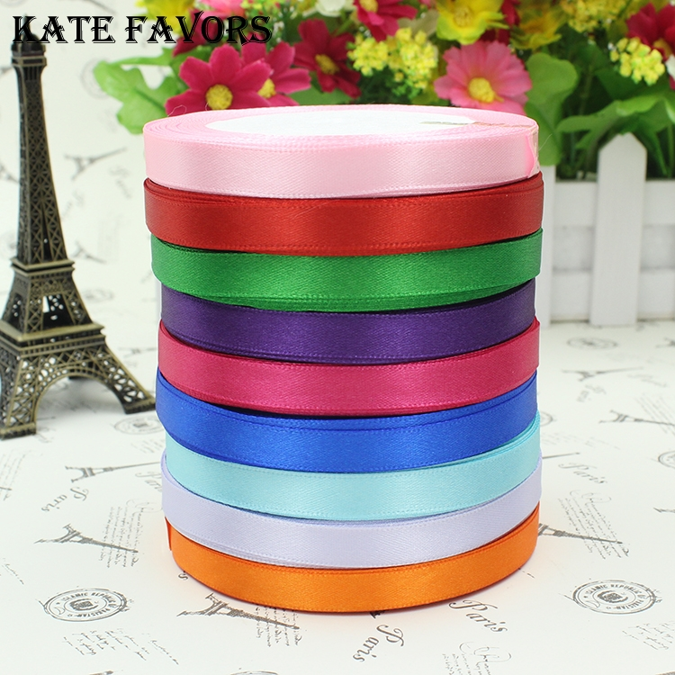 6-40mm 25 Yard Pretty Silk Satin Ribbon 22M Wedding Party Decoration Invitation Card Gift Wrapping Scrapbooking Supplies Riband