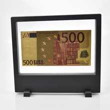 Gold Foil Euro Banknotes Plated Collection With Showing Stand