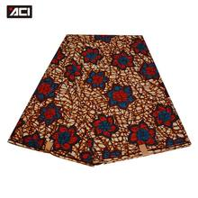 ACI 2018 New Design African Fashion Ankara Wax Polyester Tissu Wax Africain 6 Yards/Piece Hot Sale Batik Fabric Super Wax Print