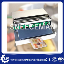 small machinery cheap fruit and vegetable cling film packing machine