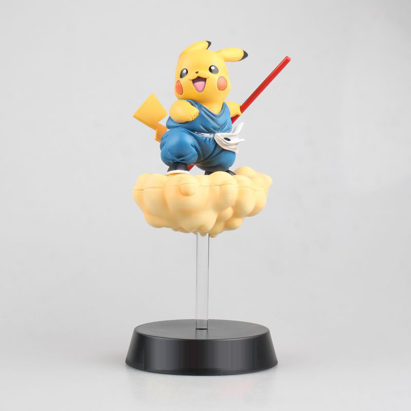 Anime dragon ball Pikachu Figure Son Goku Pikachu  PVC Action Figure Toy Collection Model Gift anime dragon ball z son goku action figure blue hair and yellow hair pvc collection toy doll model garage kit 26cm