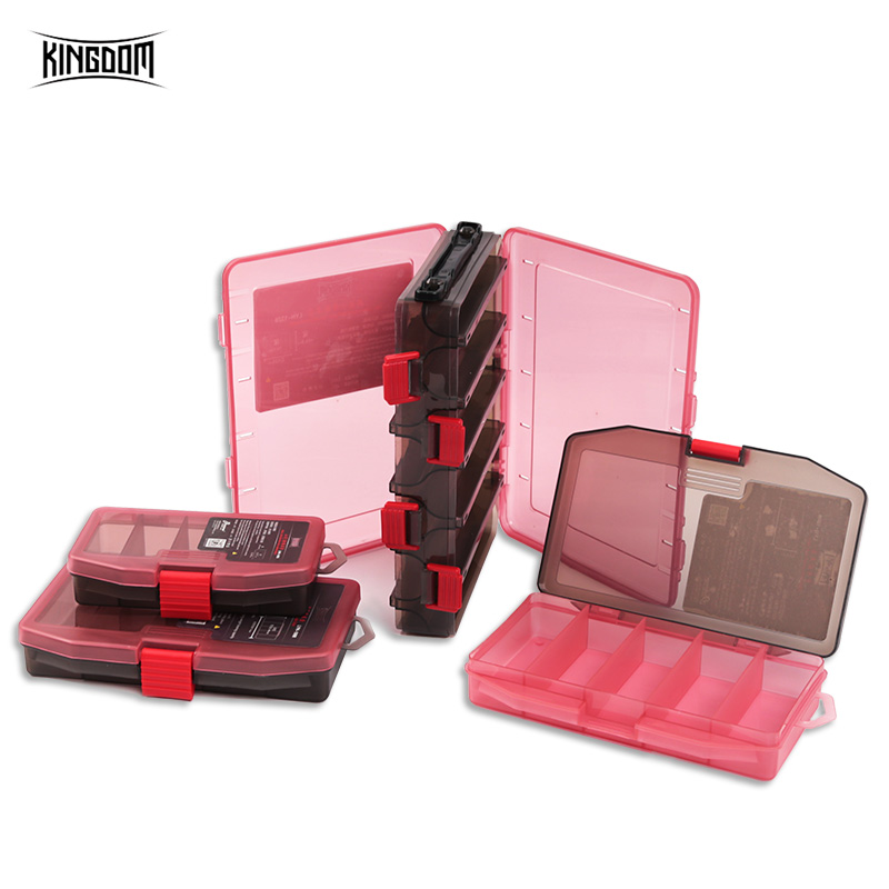 Kingdom Double Sided Multifunction Fishing Lure Tackle Box With Three Sizes Durable Large Capacity New PP Material