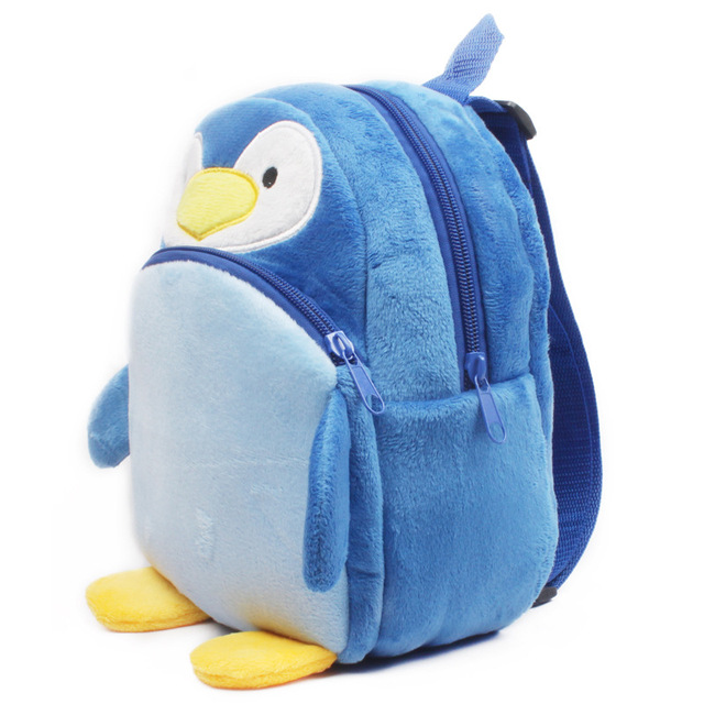 Lovely Penguin baby schoolbag plush backpack school bags kids mochila cartoon design mini bags toy for children Christmas gift Kids & Baby Bags