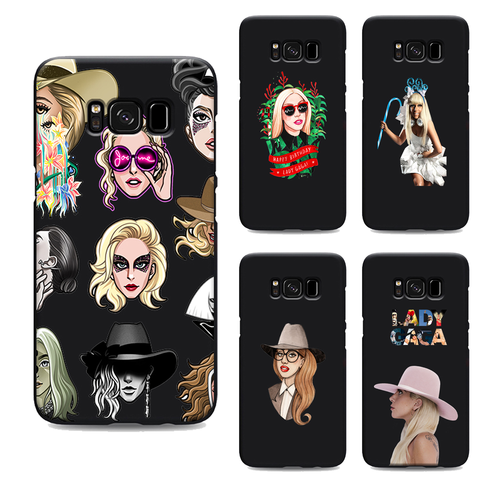 lady gaga soft Silicone black cover phone case for samsung galaxy s7 edge s6 s5 s8 s9 plus best diy custom TPU Housing