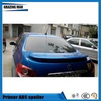 High Quality ABS Primer Unpainted Color Rear Trunk Spoiler For Peugeot 207 sedan Spoiler