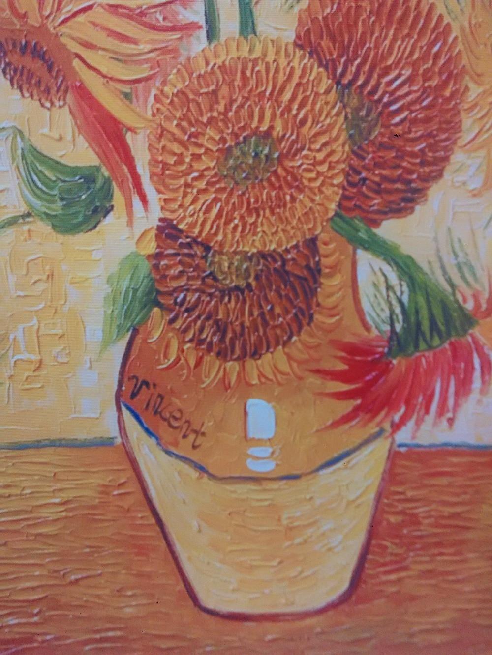 Groß Van Gogh Sonnenblumen Färbung Seite Zeitgenössisch ...