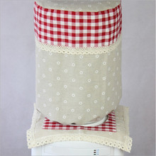 New Dust Cover Hot Sell Pastoral Style Lattice Water Dispenser Dust Cover Cotton Cloth 3 Colors