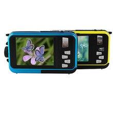 """Neue 1080 P HD Wasserdichte Digitalkamera 24MP 2,7 """"TFT foto kamera 16x Zoom Lächeln Anti-shake-Video Camcorder"""
