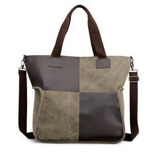 Image 2 - 2020 Vintage قماش المرأة حقيبة يد حقيبة يد عادية مبطن سعة كبيرة السيدات حقيبة يد طالب كلية حقيبة كتف عبر الجسم