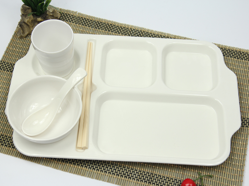 16 Inch Korean Fast Food Tray Plate Plastic Imitation