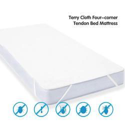 1 pçs novo quatro-canto tendão terry pano capa de cama à prova dwaterproof água protetor de colchão para casa