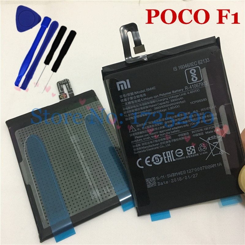 Cellphones & Telecommunications New Real 4000mah Bm4e Battery For Xiaomi Pocophone F1 Poco F1 Providing Amenities For The People; Making Life Easier For The Population