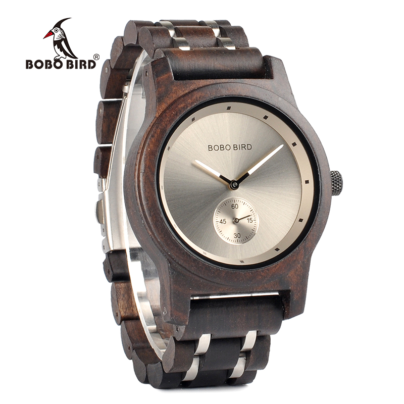 BOBO BIRD Wooden Watches Men Luxury Wristwatch Clock Functional Stop Watch relogio masculino K-Q18BOBO BIRD Wooden Watches Men Luxury Wristwatch Clock Functional Stop Watch relogio masculino K-Q18