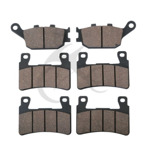 6 PCS Motorcycle Rear Front Brake Pads For HONDA CBR 600 F4 F4i Sport CBR 929 RR-FIREBLADE CBR900 RR VTR 1000 SP-1 (SP45) economic bicycle brake pads black 4 pcs