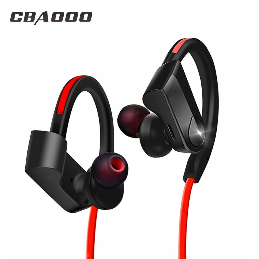 все цены на CBAOOO wireless Headphones Earphone bluetooth sport earphone sweatproof Headset Stereo blutooth Headphone with MIC for iphone онлайн
