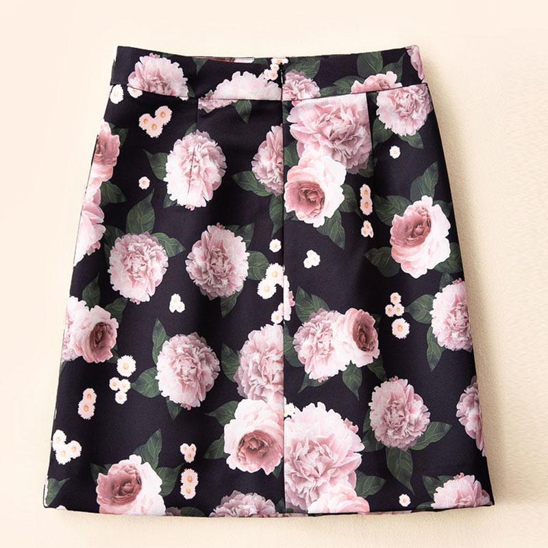 1 Roosarose Calidad Moda Mujeres Vintage Alta Impresión Faldas Mini Falda 2019 De Floral Las Rojo Elegante Pista La Negro 2 dpUqIIw