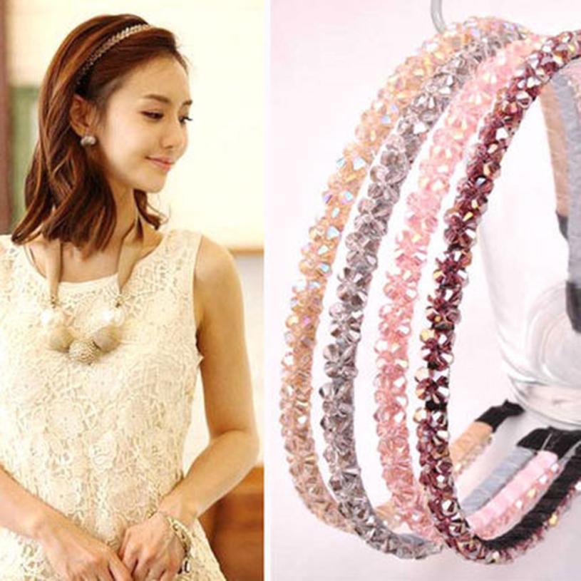 snowshine YLW  Korean Women Hairband Crystal Headband Hairband Headwear Hair Accessories