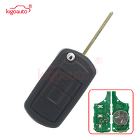 Flip remote key for Land rover LR4 Range rover 3button uncut blade with ID44 PCF7935 chip 315Mhz HU92 blade