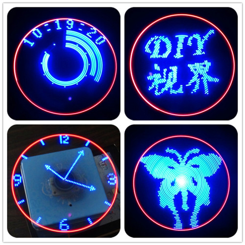 Rotating Plane Rotation LED Suite POV MCU Suite DIY Electronic Clock Parts Race Rotation 51 mcu learning development board experiment board ly51 sz1 diy kit diy clock electronic clock parts