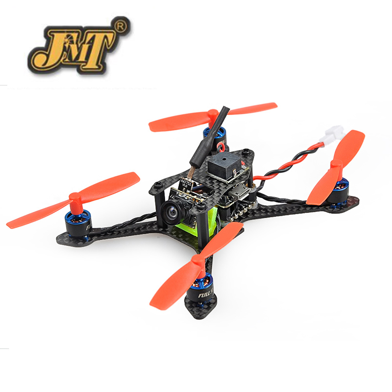 JMT Bat-100 100MM DIY FPV Micro Brushless Racing Quadcopter Drone BNF with Frsky/Flysky/DSM-X WFLY RX Carbon Fiber Receiver jmt leader 120 120mm carbon fiber diy mini fpv racing quadcopter receiver drone camera osd f3 brushless bnf combo set