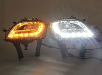 opel astra J 2009 2013 led drl daytime running light with fog lamp reflector cup, turn light function, super bright, fast ship