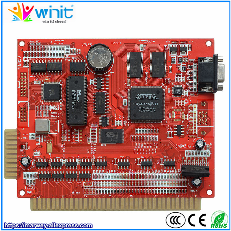 Marwey 9 in 1 game board red casino gambling PCB circuit game board multi games support