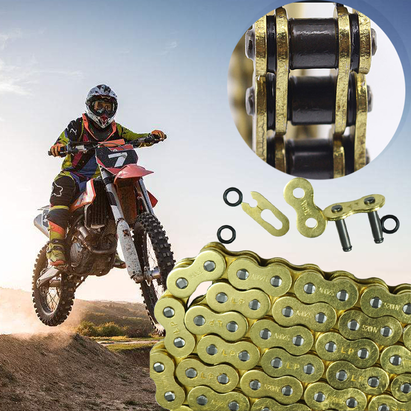 LOPOR Motorcycle Chain 520 525 530 O Ring Pit Dirt Bike MX Motocross Enduro Supermoto Racing ATV Quad For Honda CB600 Suzuki did 520 vx 120l o ring seal chain for dirt bike atv quad mx motocross enduro supermoto motard racing off road motorcycle
