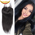 """Peruvian Straight Lace Closure Bleached Knot 4x4 Cheap Virgin Human Hair Lace Closure 10""""-20"""" Free Middle Three Part New Arrival"""