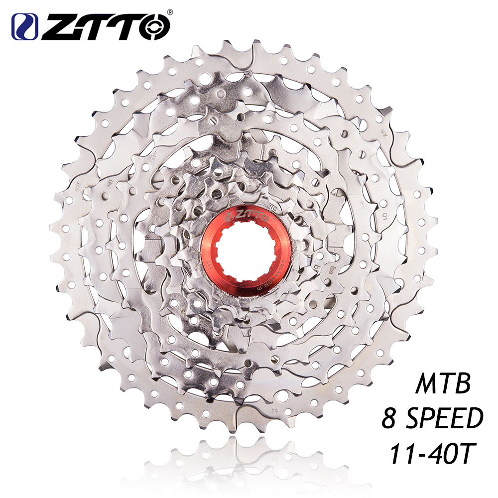 ZTTO MTB Mountain Bike Bicycle Parts 8s 24s Speed WIDE RATIO Freewheel Cassette 11-40T for Shimano ALIVIO sram X4 shimano acera mountain bike st ef65 shift brake lever 3 8 speed 24s mtb bicycle bike conjoined dip bicycle derailleur