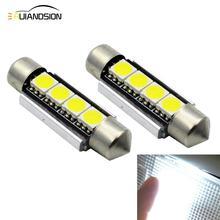 4pcs High Quality Festoon 5050 4smd 39mm 41mm LED Bulb C5W C10W Super Bright Canbus Auto Interior Dome Lamp Car Styling Light
