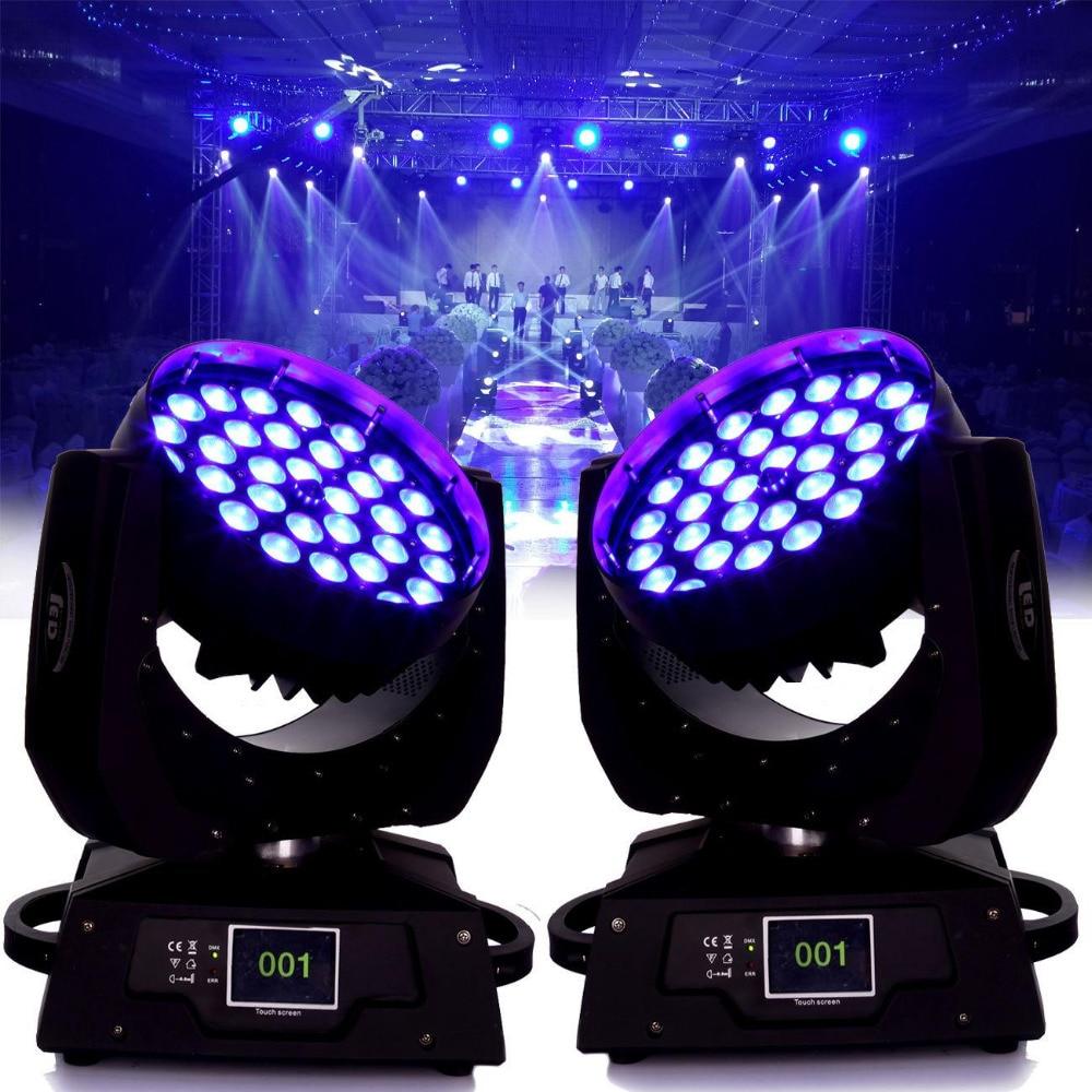 (Envío desde la UE) 2 unids/lote 36x10W RBGW rojo verde azul blanco LED Zoom efecto de lavado Disco cabeza de la lámpara DJ iluminación de escenario