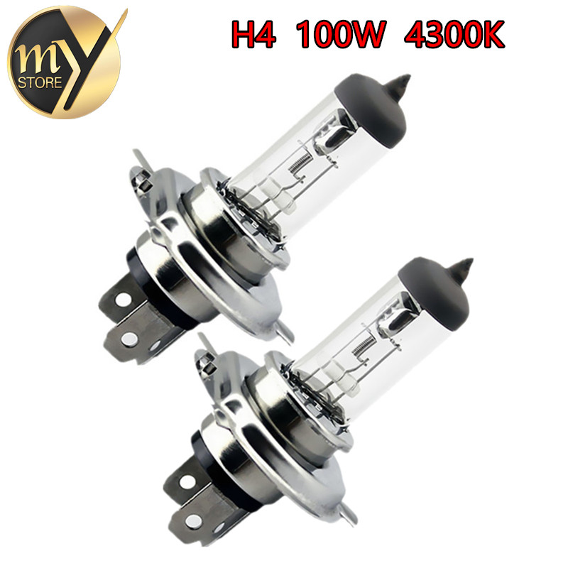 2pcs  H4 12V 100W /90W 4300K Yellow P43t Fog Halogen Bulb light running day Head Lamp car styling car light source parking