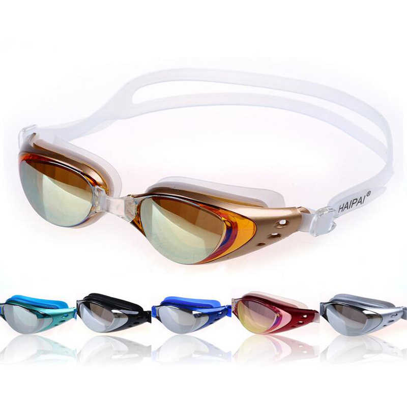 15ba7399695 Men Women Professional Electroplate Anti fog UV Protection Waterppoof Swim  Pool Swimming Glasses Goggles Eyewear Case