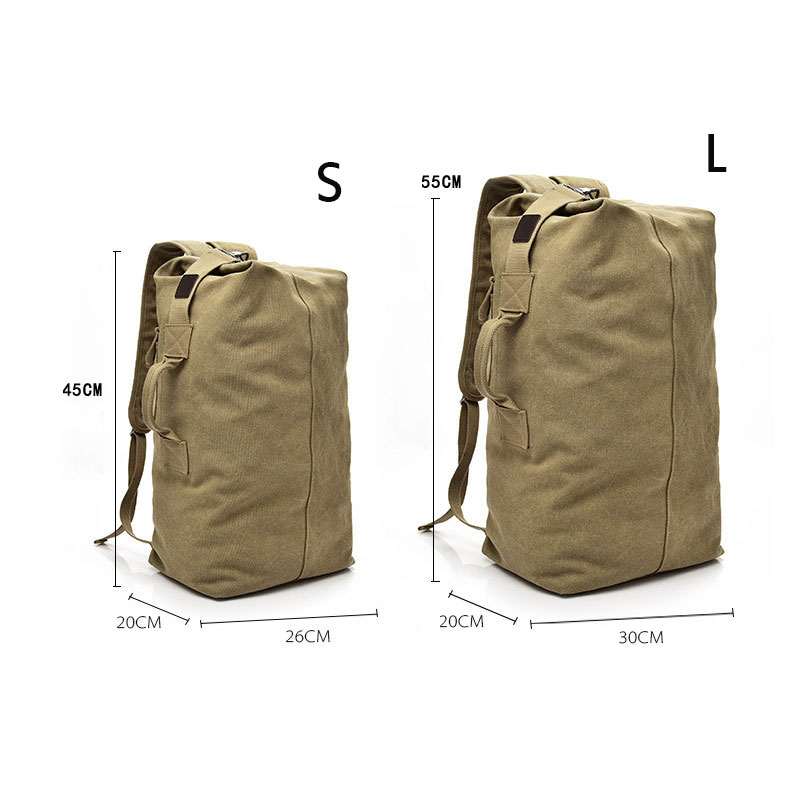 Large Capacity Backpack Man Mountaineering Male Outdoor Travel Luggage Bags Boys Canvas Bucket Shoulder Bags Men Backpacks S/L 3
