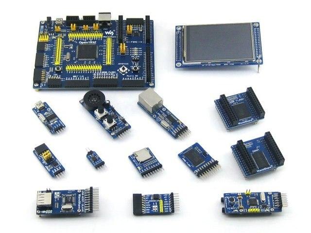 US $89 6 13% OFF|STM32F103ZET6 STM32F103 STM32 ARM Cortex M3 Open103Z  Development Board + 12 Accessory Modules Open103Z Package B-in Demo Board  from