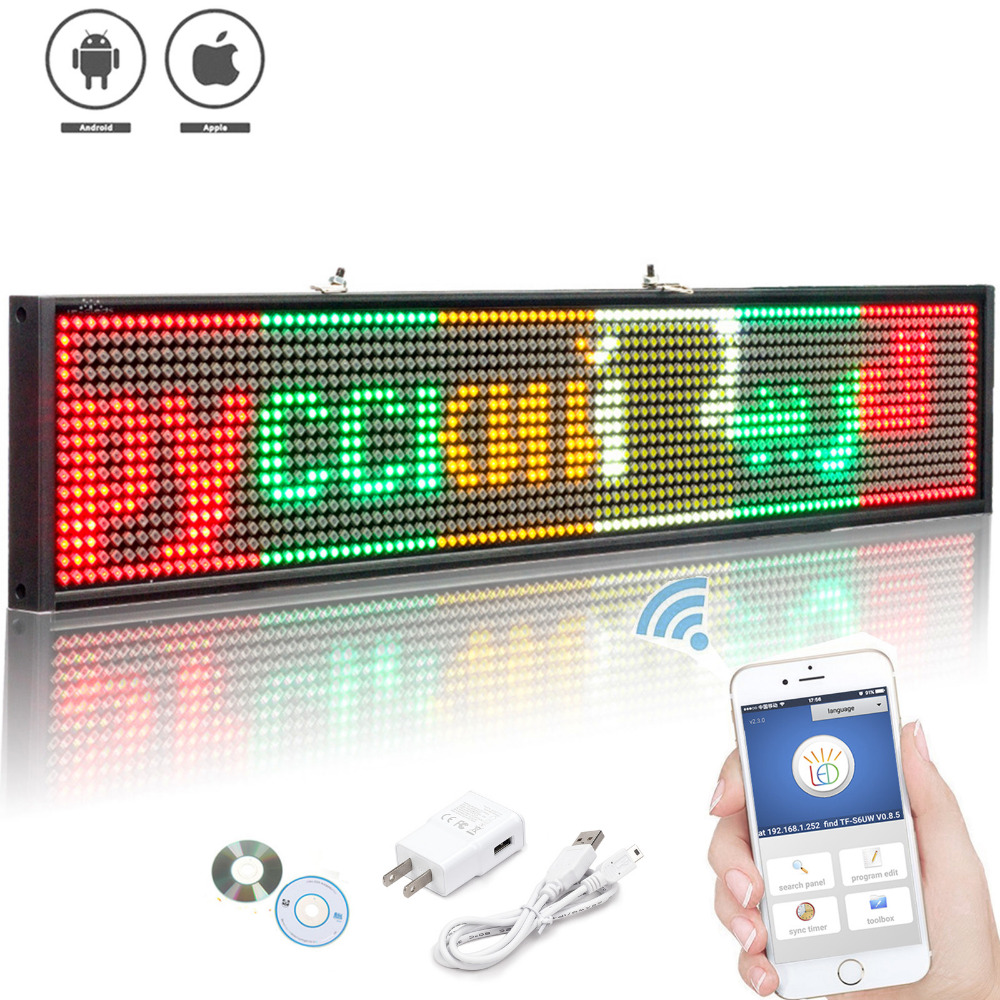 P5 SMD Wireless Led open Sign Programmable Scrolling Message Multicolor Display Board for Shop window advertising business