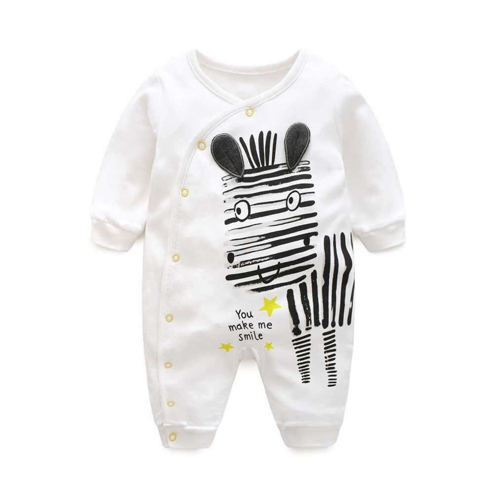 Hooyi Baby Boy Girl Cotton Romper Rabbit Winter Newborn Jumpsuit Infant Clothing