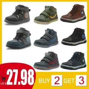 Image 1 - Apakowa # buy 2 obter 1 livre # criança meninos primavera outono gancho e laço botas de tornozelo curto crianças tênis de renda sapatos casuais