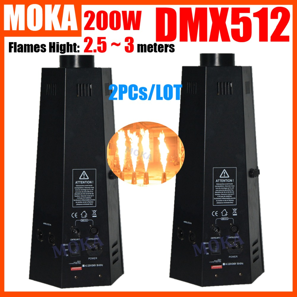 2PCs/LOT 200W Spray Fire Machine Dmx Flame Projectors Stage Equipment DMX Fire Machine Stage Flame machine Fire Machine