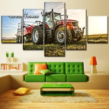 Felling Machine And Farmers HD Print Painting 5 Piece Canvas Art Modern painting on canvas poster Room